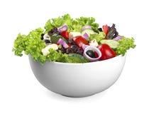 Foto del primo piano di insalata fresca con le verdure dentro Immagini Stock