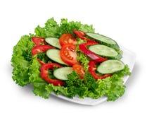 Foto del primo piano di insalata fresca con le verdure dentro Fotografia Stock