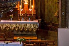 Foto del primo piano di un altare Fotografia Stock