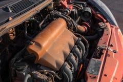 Foto del primo piano di un blocchetto del motore Fotografia Stock Libera da Diritti