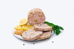 Foto del prosciutto casalingo, alimento sano, cucinante fotografia stock libera da diritti