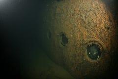 Foto del relitto della nave del Mar Baltico subacquea Fotografie Stock Libere da Diritti