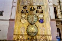 Foto del reloj astronómico de Olomouc, República Checa de HDR Fotos de archivo libres de regalías