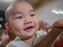 Foto del ritratto di Cutie e del bambino asiatico bello del ragazzo fotografia stock libera da diritti