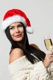Foto del ` s del Año Nuevo de la muchacha Foto de archivo libre de regalías