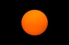 Foto del sole su fondo nero Immagini Stock Libere da Diritti