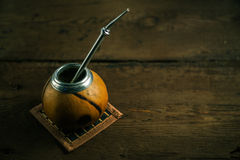 Foto del té del compañero de Yerba Fotografía de archivo