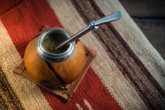 Foto del té del compañero de Yerba Imagen de archivo libre de regalías