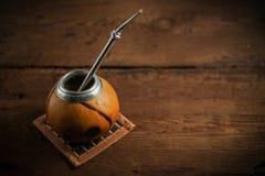 Foto del té del compañero de Yerba Imagen de archivo