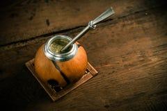 Foto del té del compañero de Yerba Fotografía de archivo libre de regalías