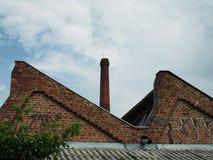 Foto del tetto e del camino Fotografia Stock