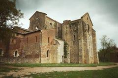 Foto del vintage de la abadía del santo Galgano Imagen de archivo libre de regalías