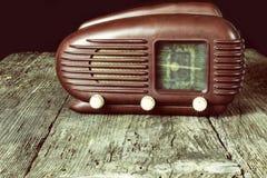 Foto del vintage de la radio vieja Front View Fotos de archivo libres de regalías