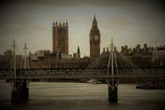 Foto del vintage de Londres, Gran Bretaña Foto de archivo libre de regalías