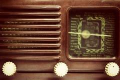 Foto del vintage del primer de radio viejo Fotografía de archivo libre de regalías