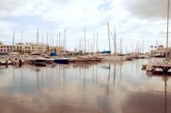 Foto del vintage del puerto Fotografía de archivo libre de regalías