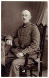 Foto del vintage del soldado de la Primera Guerra Mundial Fotografía de archivo