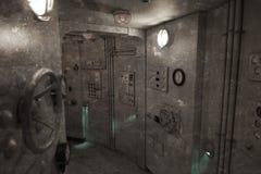 Foto del vintage - el interior de un submarino Fotos de archivo libres de regalías