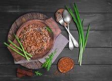 Foto dell'alimento del grano saraceno fotografia stock