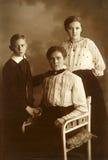 Foto dell'annata della famiglia Fotografie Stock Libere da Diritti