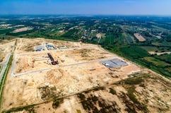 Foto dell'antenna di sviluppo della proprietà di Iindustrial Immagine Stock Libera da Diritti