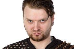 Foto dell'uomo con lo sguardo arrabbiato Fotografia Stock Libera da Diritti