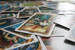 Foto della carta di tarocchi immagini stock