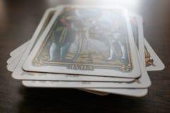 Foto della carta di tarocchi fotografia stock