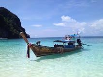 Foto della cartolina - spiaggia della scimmia Fotografia Stock