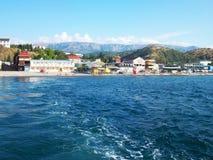 Foto della costa di mare della Crimea Fotografie Stock Libere da Diritti