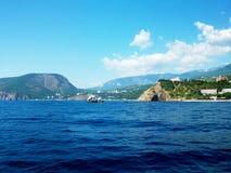 Foto della costa di mare della Crimea Fotografie Stock