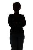 Foto della donna adulta della siluetta Fotografia Stock