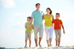 Famiglia sulla vacanza Fotografia Stock