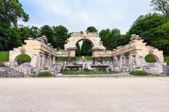 Foto della fontana romana antica di rovine fotografia stock libera da diritti