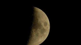 Foto della luna su un fondo nero Fotografie Stock Libere da Diritti