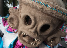 Foto della maschera del demone nel carnevale di Santo Domingo 2015 Fotografie Stock