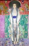 Foto della pittura originale da Gustav Klimt: Ritratto del ` del ` di Adele Bloch-Bauer II fotografie stock libere da diritti