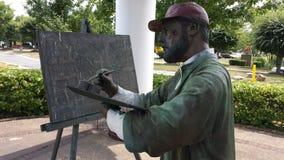 Foto della scultura della pittura dell'artista astratto fotografia stock libera da diritti