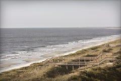 Foto della spiaggia dell'annata Fotografia Stock
