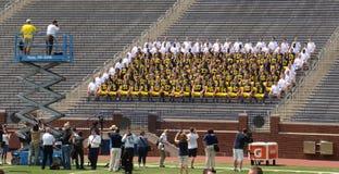 Foto della squadra di football americano del Michigan Immagine Stock Libera da Diritti