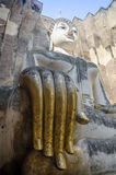Foto della statua di Buddha nel parco di Sukhothai Histirical, Tailandia Fotografia Stock Libera da Diritti