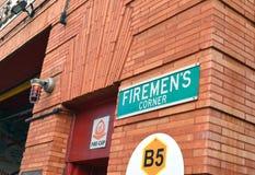 Foto della stazione dei firemens fotografia stock libera da diritti