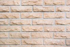 Foto della struttura decorativa del muro di mattoni per fondo fotografia stock