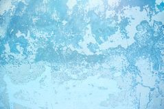 Foto della struttura invecchiata approssimativa blu della parete dello stucco immagini stock