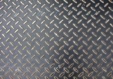Foto della superficie del pavimento del ferro Metal il sollievo per il percorso di camminata nell'area della costruzione Immagini Stock