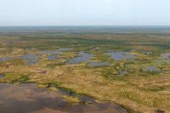 Foto della tundra da sopra fotografia stock libera da diritti