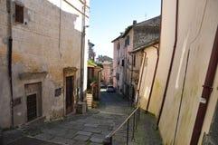 Foto della via in Bracciano, Italia Fotografia Stock