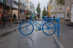 Foto della via a Reykjavik Fotografie Stock