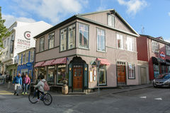 Foto della via a Reykjavik immagini stock