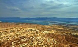 Foto della vista del mar Morto fotografia stock libera da diritti